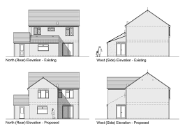 plan elevation section u2013 modern house