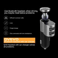 ovevo q10 2 in 1 vehicle mounted bluetooth headset car sale