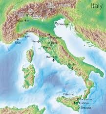 Liguria Italy Map by Physical Map Of Italy Apennines Mountains Italy Maps Pinterest