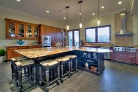 large kitchen island with seating allow room for dining with a large kitchen islands with