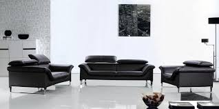 Leather Sofas Montreal Elite Modern Black Leather Sofa Set New Hampshire 2 549 00
