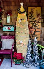 beach christmas on the front porch with surfboard christmas tree
