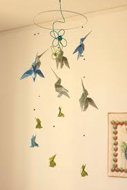 mobile chambre enfant mobile bébé origami suspension spirale chambre enfant bébé oiseau