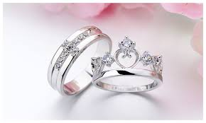 weding ring cz diamond cross wedding band open heart crown engagement ring