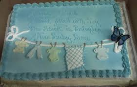 writing on baby shower cakes party xyz