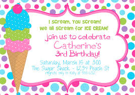 ice cream birthday party invitations vertabox com