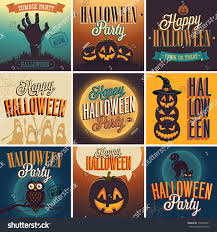halloween posters set vector illustration stock vector 153604571