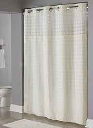 Hookless Shower Curtain Basket Weave White Hookless皰 Shower Curtain 100 Polyester Shower