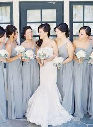 grey bridesmaid dresses picture of grey one shoulder bridesmaids dresses