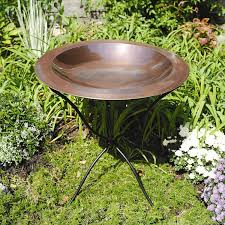 copper bird bath bowl birds of prey