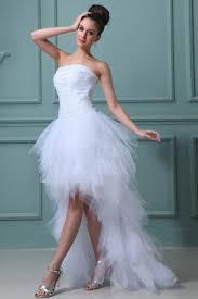 robe mariã e courte robe de mariée plage bustier ruchée courte devant longue derrière