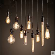 Chandelier Light Bulbs Loft Edison Retro Light Bulb Chandelier Light Bar Clothing Store