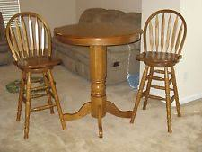 Oak Bistro Table Oak Pub Table Dining Furniture Sets Ebay