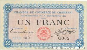 chambre du commerce chambery 1 franc regionalism and miscellaneous chambéry 1915 jp