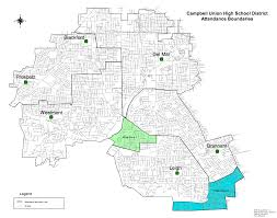 san jose district map district boundaries schools cbell union high school district