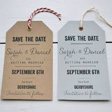 vintage save the date personalised save the date luggage tag by says i do