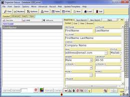 free email list manager 3 database template for organizer deluxe
