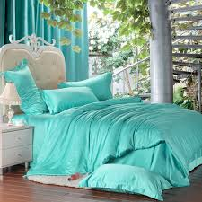 Cheap King Size Bedding Sets Luxury Turquoise Blue Green Bedding Set Silk King Size Queen Quilt