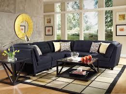 Blue Living Room Sets by Black Linen Like L Shaped Living Room Furniture Set Ebay