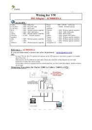 wiring for vw iso adapter ac000018aa parrot