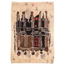 Hanging Rugs On A Wall Midcentury Scandinavian Modern Rya Wool Rug Wall Hanging For Sale