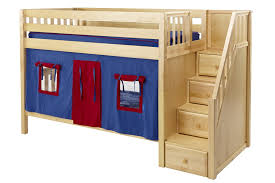 Maxtrix Low Bunk Bed WStaircase On End - Maxtrix bunk bed
