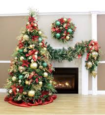 christmas christmas decorations royal red and gold tree garland