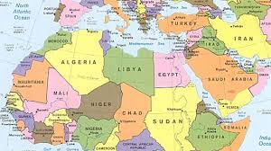 arab map map of the arab countries major tourist attractions maps