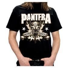 pantera hostile skull mens t shirt