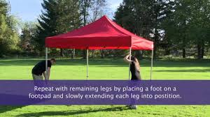 Trail Pop Up Awning How To Setup An Instant Canopy Pop Up Tent Youtube