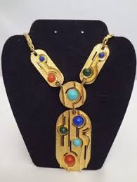 pauline rader necklace with stones ebay vintage costume