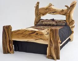 Log Queen Bed Frame Bedroom Amazing Bed Frame Canopy Log Frames Throughout Wooden Beds
