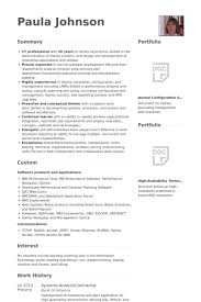 System Support Analyst Resume Systems Analyst Resume Samples Visualcv Resume Samples Database