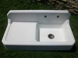 vintage cast iron sink drainboard kersey pennsylvania vintage single basin left side drainboard