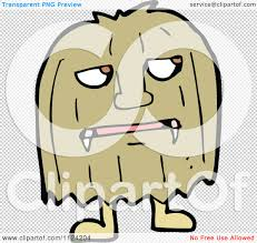 halloween monster background fantasy cartoon of a brown hairy halloween monster royalty free