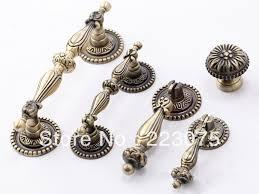 76mm zinc alloy bronze knobs decorative kitchen cabinet hardware