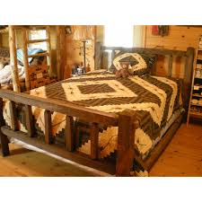 Log Cabin Furniture Standard Pine Log Bed Kit