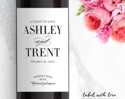 Engagement Gift From Parents In Law Wine Labels Wedding Thank You Gift Parents Of The