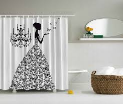 country bathroom shower curtains ambesonne fantasy decor collection classic chandelier woman in