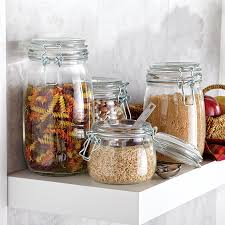glass kitchen canister set observable vintage kitchen storage jars plus ceramic flour kitchen