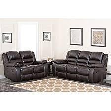 amazon com abbyson living levari reclining leather sofa and