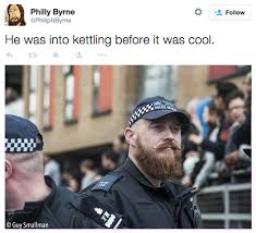 Bearded Guy Meme - philly byrne s tweet bearded hipster cop know your meme