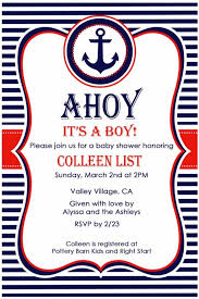 nautical baby shower invitations nautical baby shower invitations templates reduxsquad