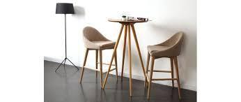 hochstuhl design design hochstuhl holz polyester beige shana miliboo