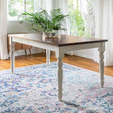 walker edison furniture company bourbon extendable dining table