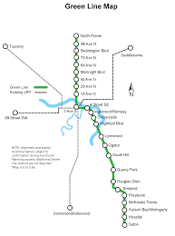 Calgary Map About The Green Line
