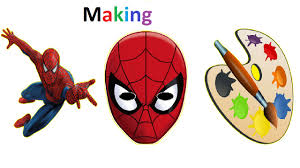 spiderman mask halloween how to make spiderman mask for kids colors for children simple