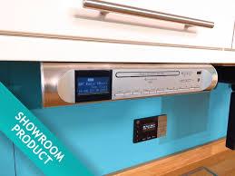 under cabinet stereo cd player soundmaster ur2170si under cabinet kitchen fm dab radio cd