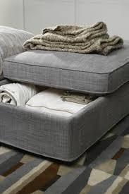 Storage Ottoman Ikea Kivik Footstool With Storage Tullinge Gray Brown That Color