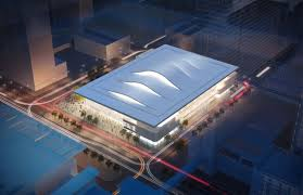 Mccormick Place Map Chicago Breaks Ground On Massive Pelli Clarke Pelli Arena
